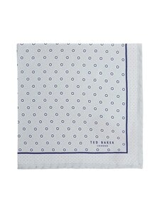 Ted Baker London - Bunbun Geometric Printed -silkkitaskuliina - 10 NAVY | Stockmann