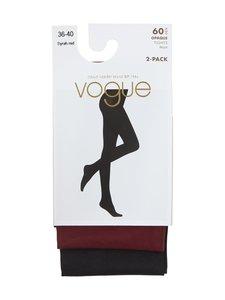 Vogue - Opaque 60 den -sukkahousut 2-pack - 7189 SYRAH RED | Stockmann