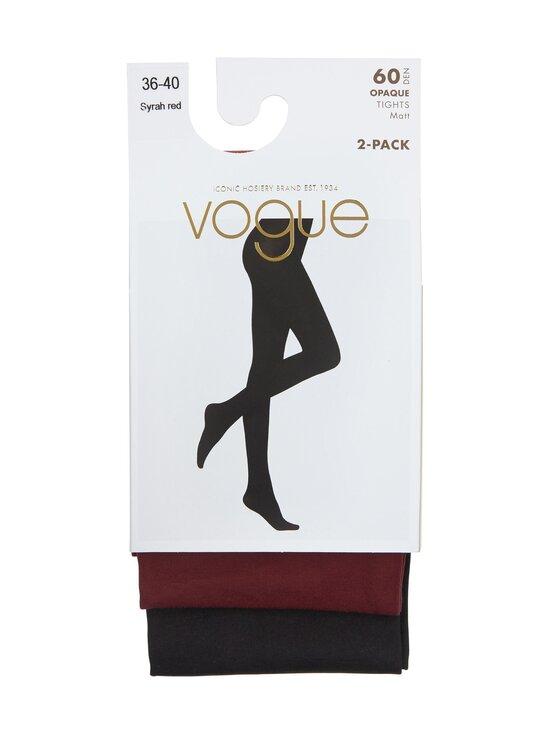 Vogue - Opaque 60 den -sukkahousut 2-pack - 7189 SYRAH RED | Stockmann - photo 1