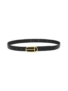 Ted Baker London - Sofhee T Detail Buckle Belt -nahkavyö - 00 BLACK   Stockmann