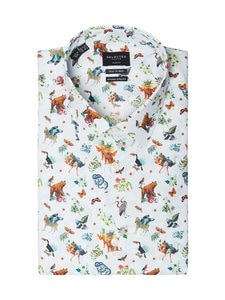 Selected - SlhSlimpen-Blake Slim Fit -kauluspaita - WHITE AOP:AOP | Stockmann