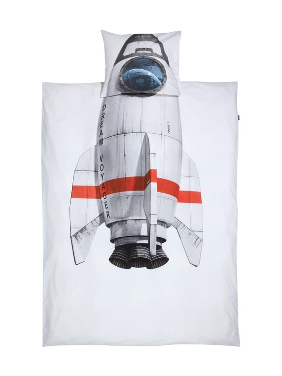 Snurk - Rocket-pussilakanasetti 150 x 210 + 50 x 60 cm - WHITE   Stockmann - photo 1