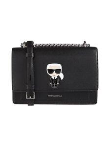 Karl Lagerfeld - K/Ikonik Metal Lock Shoulderbag -nahkalaukku - 999 BLACK   Stockmann