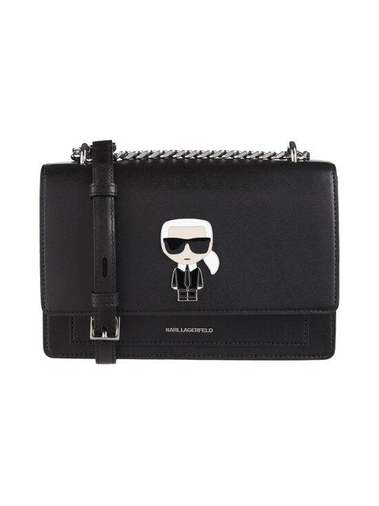 Karl Lagerfeld - K/Ikonik Metal Lock Shoulderbag -nahkalaukku - 999 BLACK | Stockmann - photo 1
