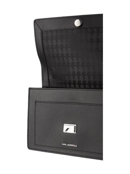 Karl Lagerfeld - K/Ikonik Metal Lock Shoulderbag -nahkalaukku - 999 BLACK | Stockmann - photo 3