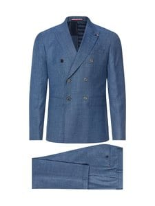 Tommy Hilfiger Tailored - Double Breasted Slim Fit Virgin Wool Suit -puku - DU9 BLUE HEATHER 05 | Stockmann