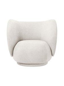Ferm Living - Rico Lounge Chair Bouclé -nojatuoli - OFF-WHITE | Stockmann