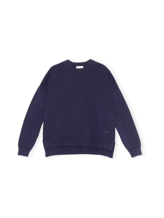 Cotton Knit Oversized Pullover -puuvillasekoiteneule
