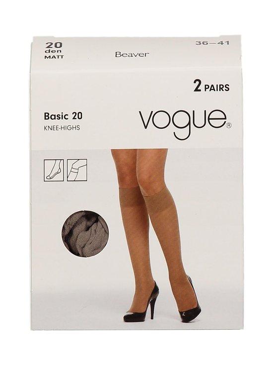 Vogue - Basic 20 den -polvisukat 2-pack - BEAVER | Stockmann - photo 1