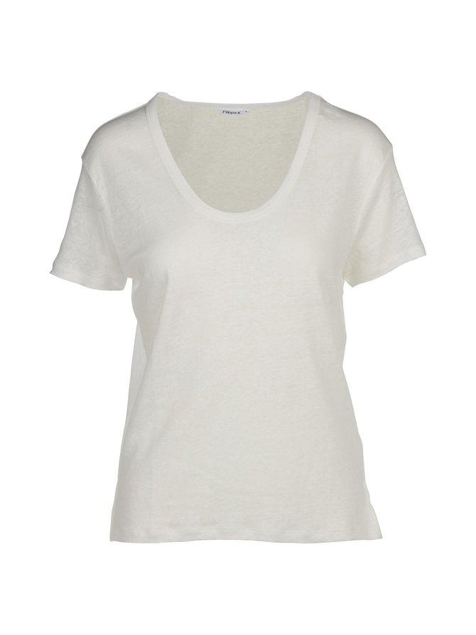 Linen Scoop Neck -paita