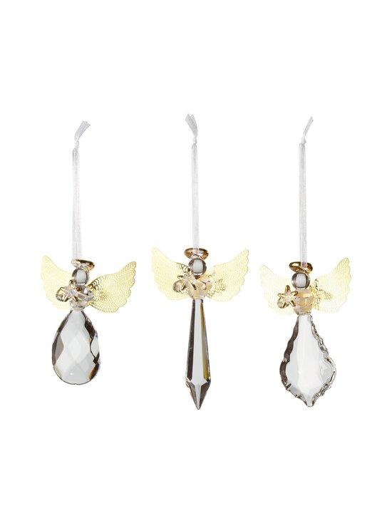 Villeroy & Boch - Winter Collage Accessoires Glass Hanging Ornament Angel -lasienkeli 3 kpl - KIRKAS/KULTA | Stockmann - photo 1