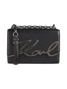 Karl Lagerfeld - K/Signature Small Shoulderbag -nahkalaukku - BLK/GUN METAL A991   Stockmann