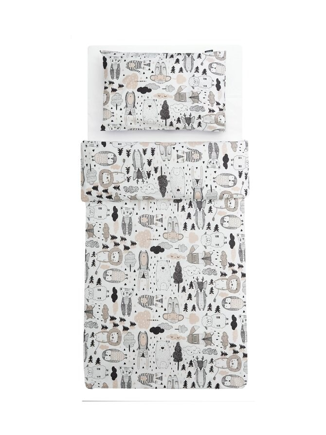 Kaverit-pussilakanasetti lapselle 120 x 160 + 40 x 60 cm
