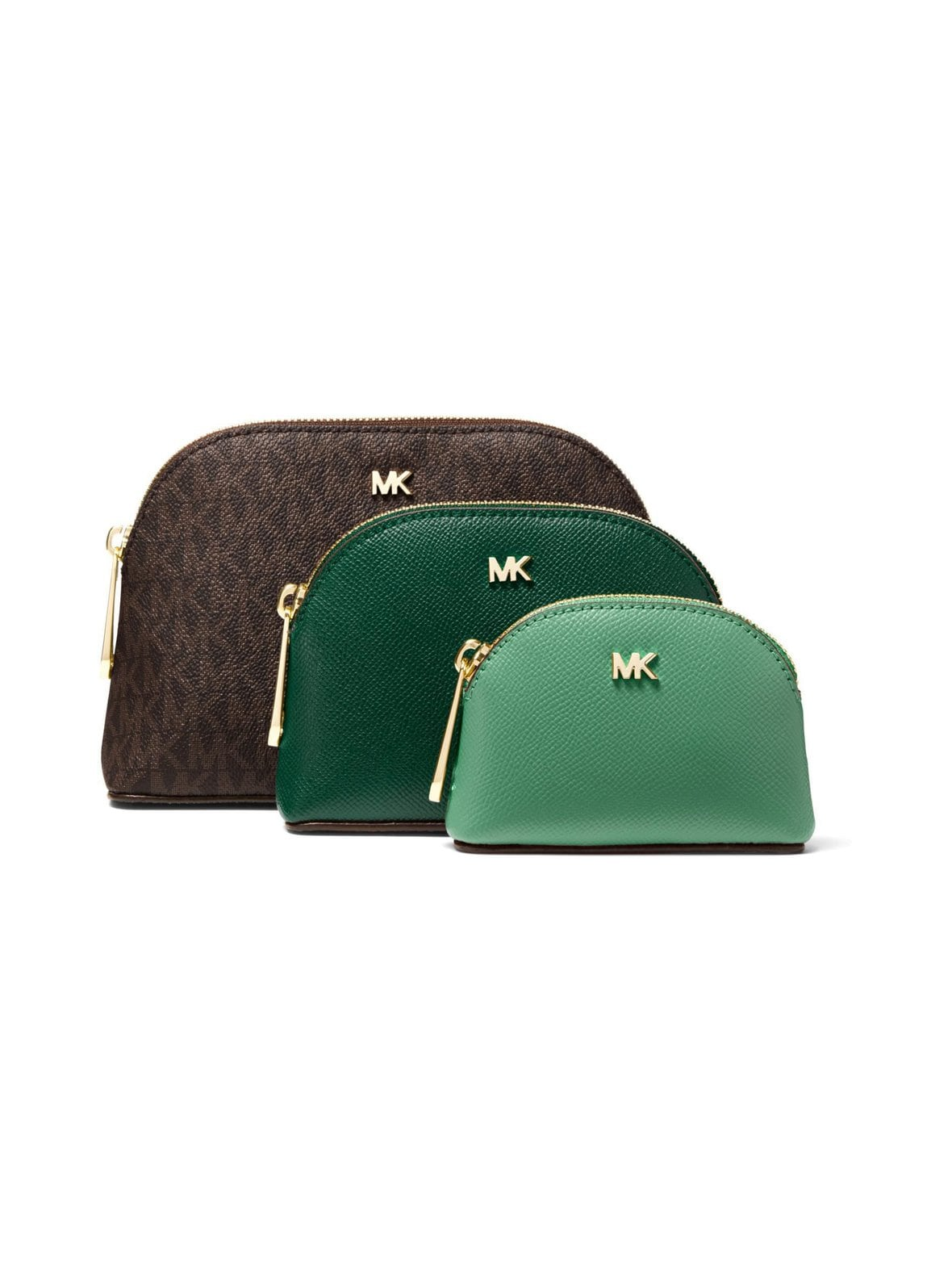Green Version Michael Michael Kors Leather and Logo Travel Pouch ... e48497dbd705e