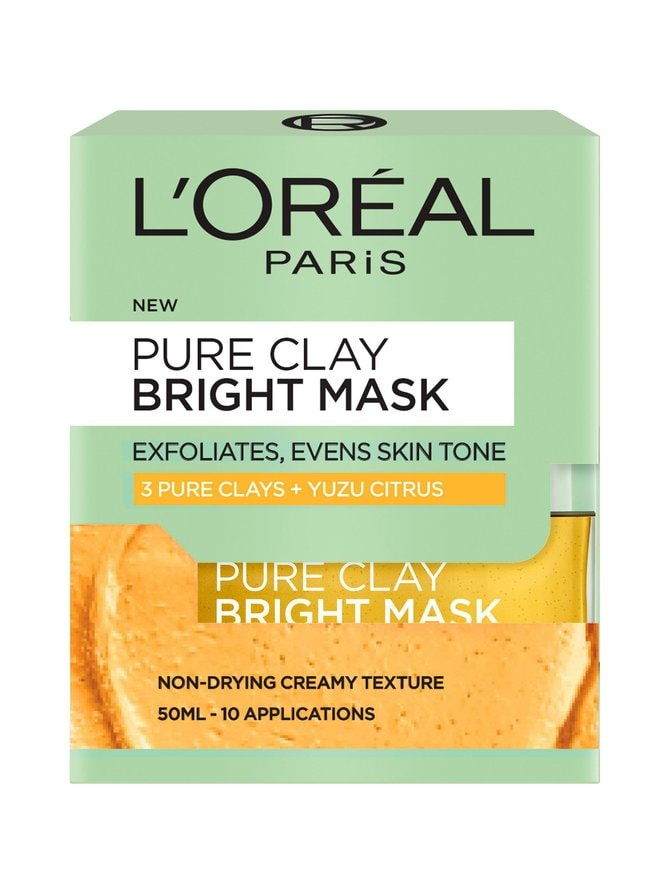 L'Oréal Paris Pure Clay Bright Mask -kasvonaamio 50 ml