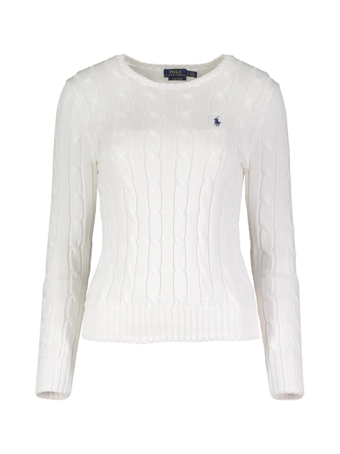 White (valkoinen) Polo Ralph Lauren Cotton Classic Cable -neule ... eaaf52abc6