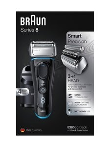 Braun - Series 8 8385cc -parranajokone - BLACK/BLUE | Stockmann