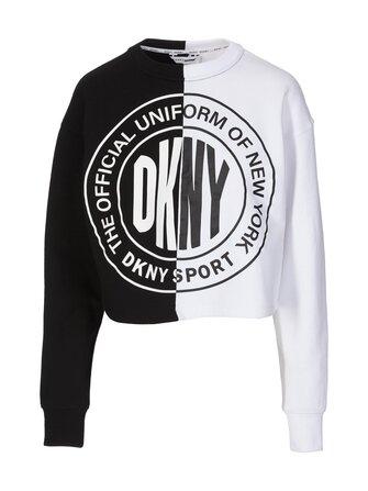 Cropped Split logo sweatshirt - DKNY Sport