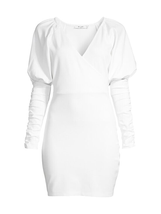 NA-KD - Gathered Sleeve Jersey -mekko - WHITE | Stockmann - photo 1