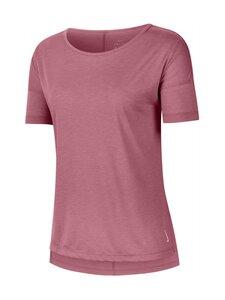 Nike - Yoga Dry Layer SS Top -paita - 614 DESERT BERRY/HTR/LT ARCTIC PINK | Stockmann