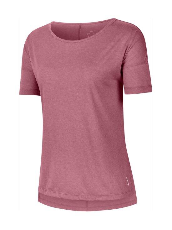 Nike - Yoga Dry Layer SS Top -paita - 614 DESERT BERRY/HTR/LT ARCTIC PINK | Stockmann - photo 1