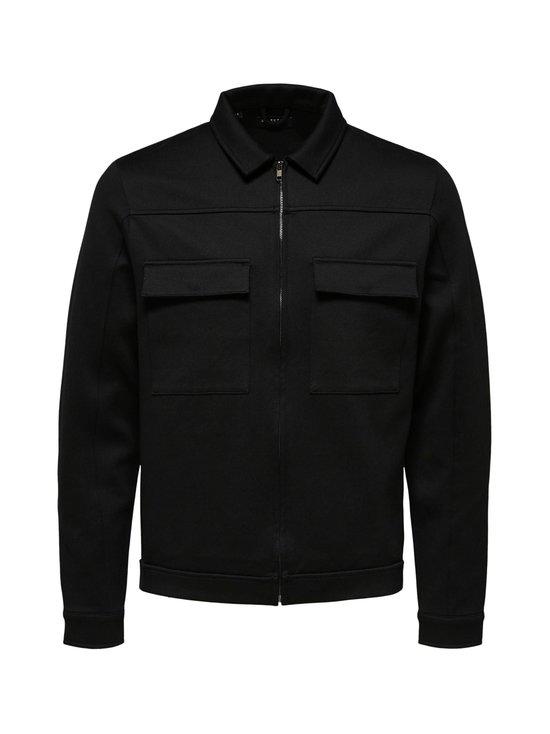 Selected - SlhJenner Sweat Jacket -collegetakki - BLACK | Stockmann - photo 1