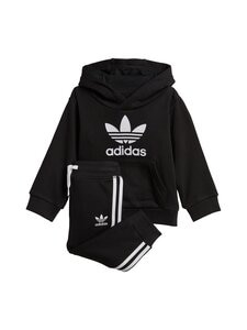 adidas Originals - Trefoil Hoodie -asu - BLACK/WHITE | Stockmann