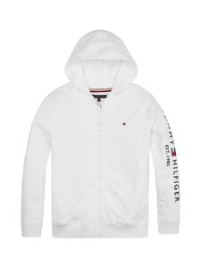 Tommy Hilfiger - Essential Hooded Zip Through -huppari - YBR WHITE | Stockmann