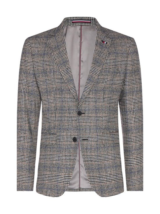 Tommy Hilfiger Tailored - Check Slim Fit -bleiseri - 0QY ECRU/BLACK/TAWNY/PEARLY BLUE | Stockmann - photo 1