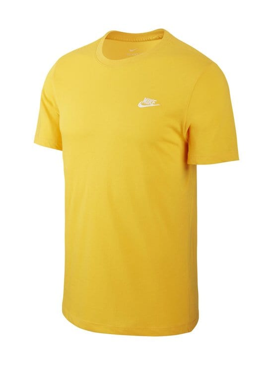 Nike - Sportswear Club -paita - 739 UNIVERSITY GOLD/WHITE | Stockmann - photo 1