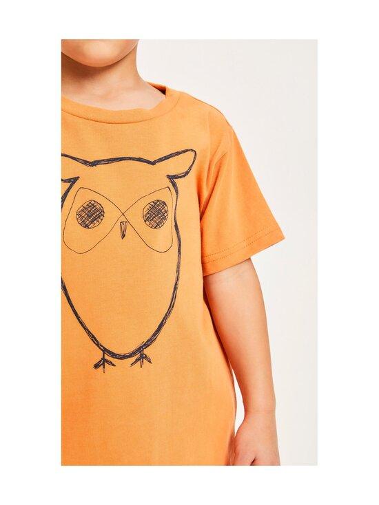 Knowledge Cotton Apparel - Flax Owl Tee -paita - 1320 ABRICUT BUFF   Stockmann - photo 3