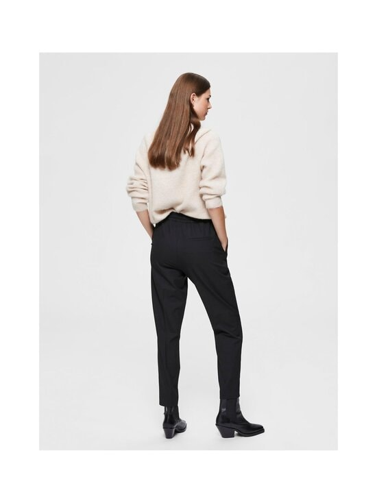 Selected - SlfJulie Medium Waist Comfort Straight Pant -housut - BLACK | Stockmann - photo 2