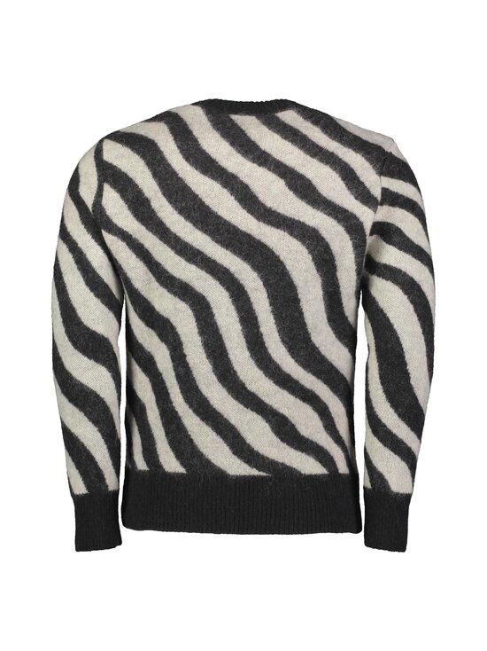 Ami - Zebra Striped Sweater -mohairsekoiteneule - NOIR/BLANC/004   Stockmann - photo 2