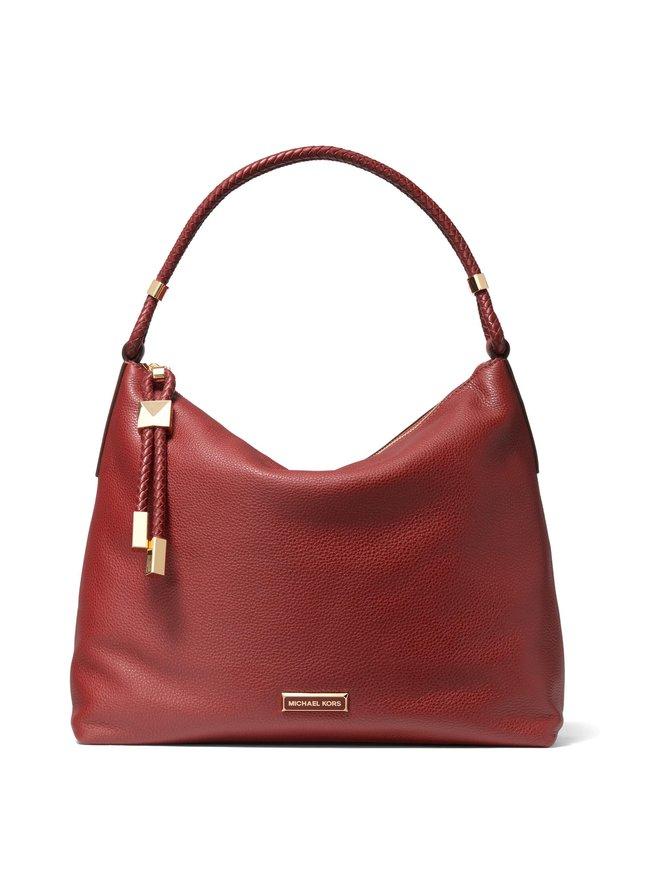 Lexington Large Pebbled Leather Shoulder Bag -nahkalaukku