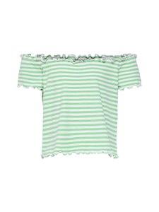 KIDS ONLY - KonNaroma Off Shoulder Top -paita - HEMLOCK STRIPES:BRIGHT WHITE | Stockmann