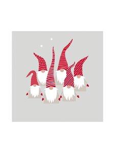 Paper+Design - Scandic Santas -servetti 33 x 33 cm, 20 kpl - GREY-RED-WHITE | Stockmann