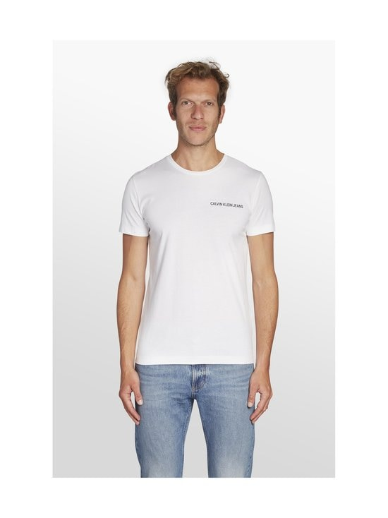 Calvin Klein Jeans - Chest Institutional Slim SS Tee -paita - 112 BRIGHT WHITE | Stockmann - photo 3