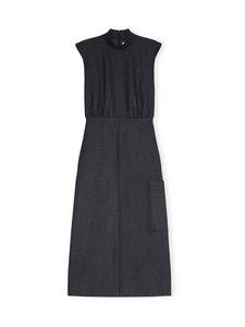Ganni - Wool Suiting Dress -mekko - PHANTOM   Stockmann