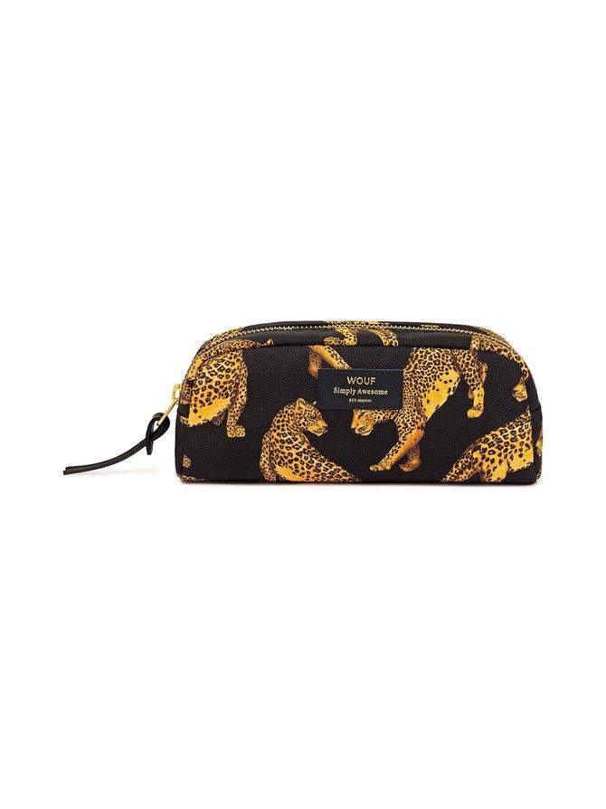 Black Leopard Small -kosmetiikkalaukku