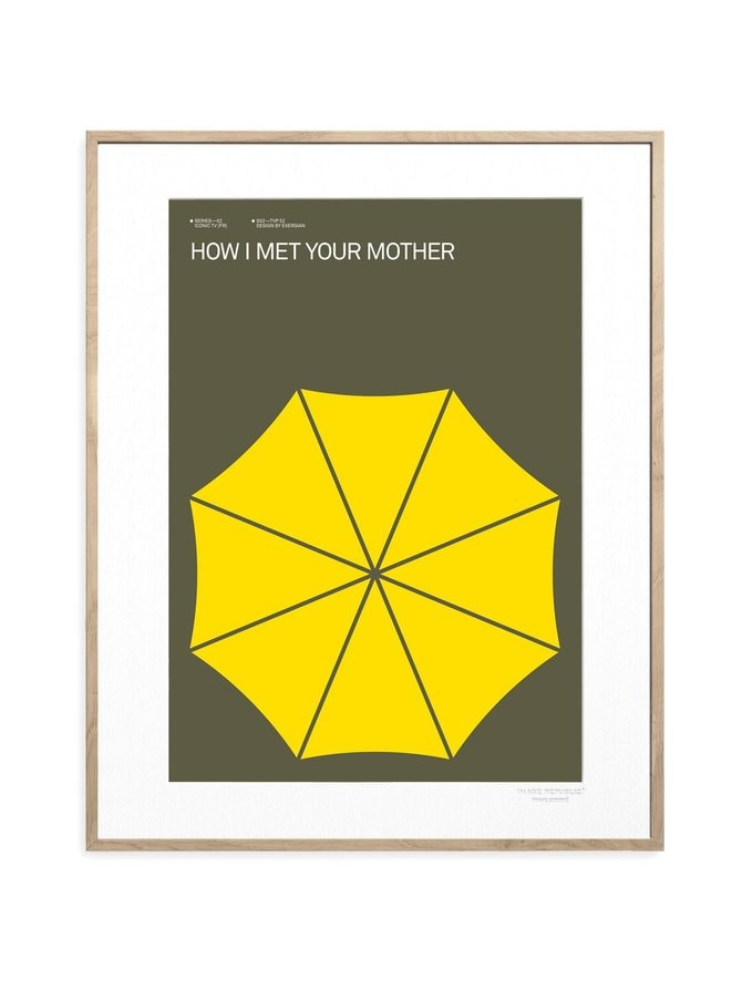 Iconic TV by Exergian How I Met Your Mother -juliste 30 x 40 cm