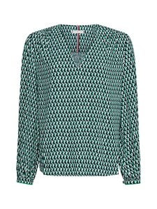 Tommy Hilfiger - POPLIN BLOUSE -pusero - 0H9 COURT SIDE GEO / PRIMARY GREEN | Stockmann