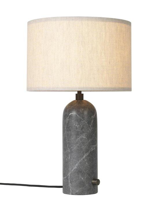 Gubi - Gravity Table Lamp Small -pöytävalaisin - GREY MARBLE, CANVAS SHADE | Stockmann - photo 2