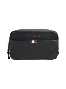 Tommy Hilfiger - Business Leather Washbag -toilettilaukku - BDS BLACK | Stockmann
