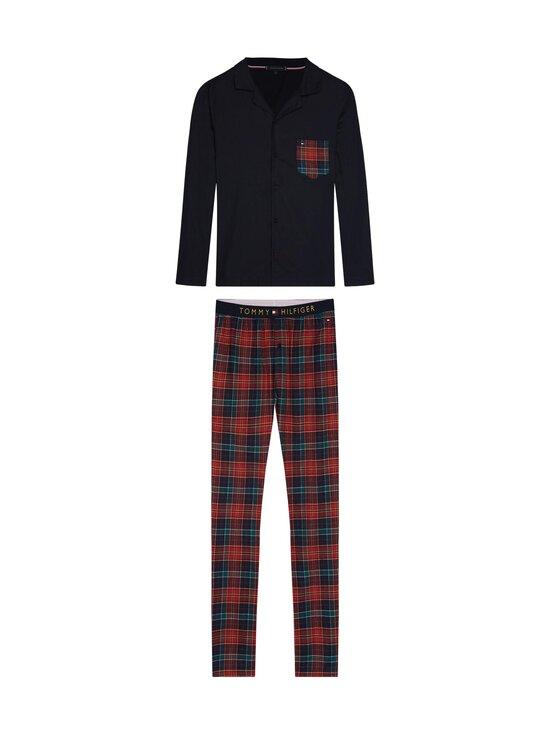 Tommy Hilfiger - LS Pant Flannel Shirt Set -pyjama - 0YV DESERT SKY / REGATTA RED | Stockmann - photo 1