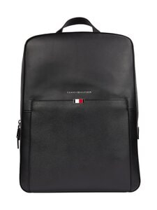 Tommy Hilfiger - Business Leather Backpack -nahkareppu - BDS BLACK | Stockmann