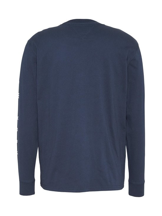 Tommy Jeans - TJM Longsleeve Script Box Tee -paita - C87 TWILIGHT NAVY | Stockmann - photo 2
