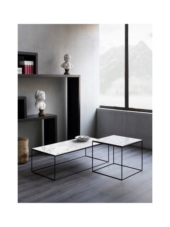 ZEUS - Slim Marble -pöytä - MUSTA/VALKOINEN   Stockmann - photo 2