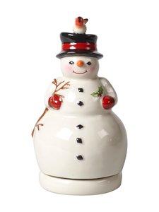 Villeroy & Boch - Nostalgic Melody Snowman -figuuri 8 x 8 x 15 cm - WHITE | Stockmann