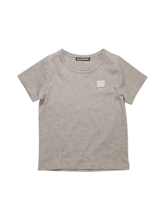 Acne Studios - Mini Nash Face T-shirt -paita - LIGHT GREY MELANGE X92   Stockmann - photo 1