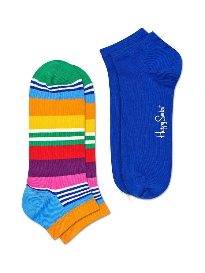 Multi Stripe Low -sukat 2-pack